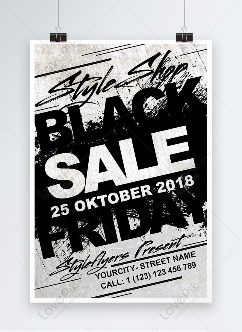 黒のクリエイティブプロモーションポスター