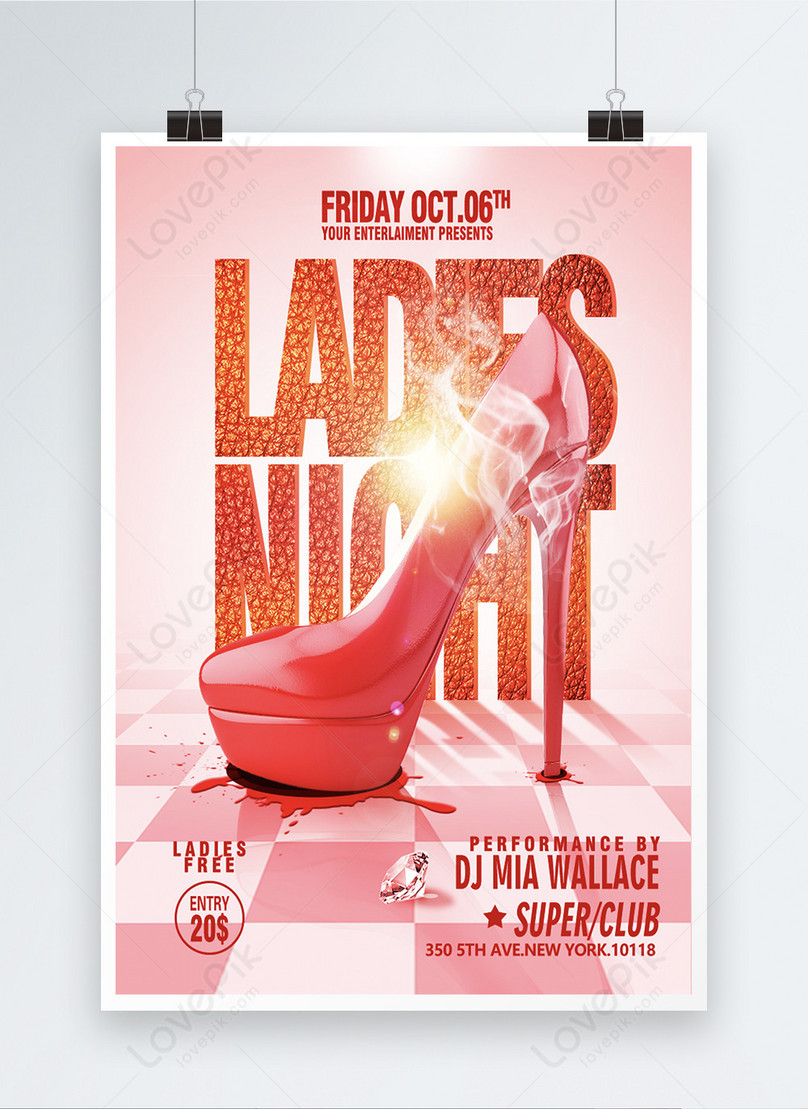 red high heels fashion promotion posters