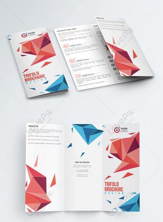 創意企業宣傳三摺頁 模板