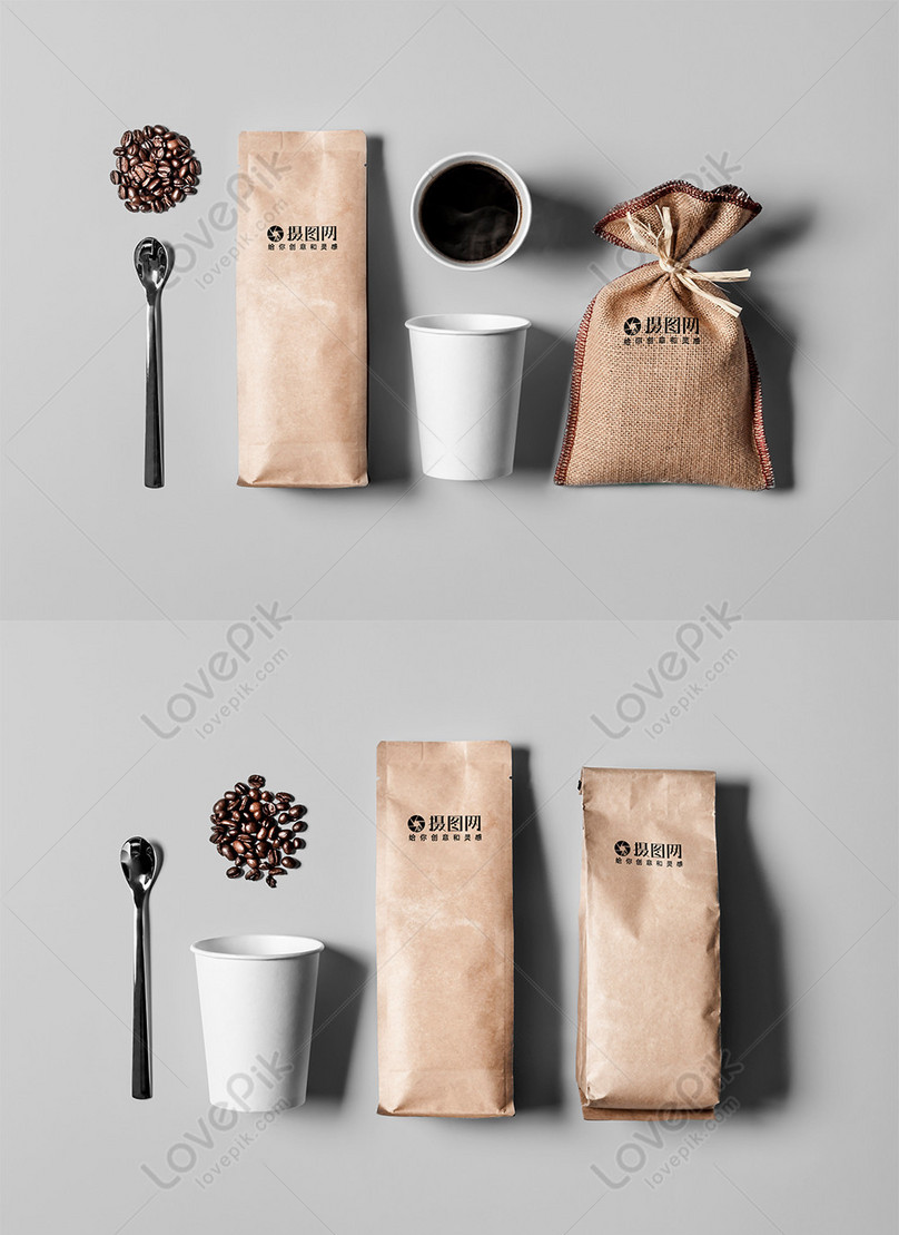 coffee bean vi mockup