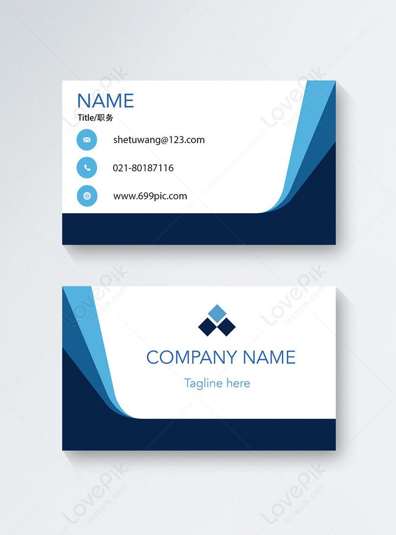 Conception De Carte Visite Bleue