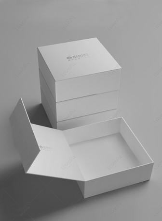 Maquette d'emballage de boîte-cadeau blanche Modèles