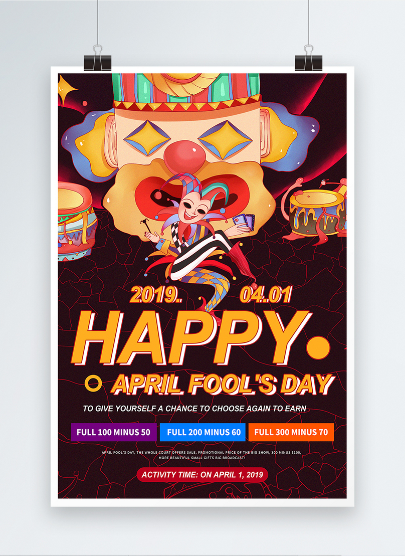 Pure english april fools day promotional posters template image_picture  free download 401020498_lovepik.com