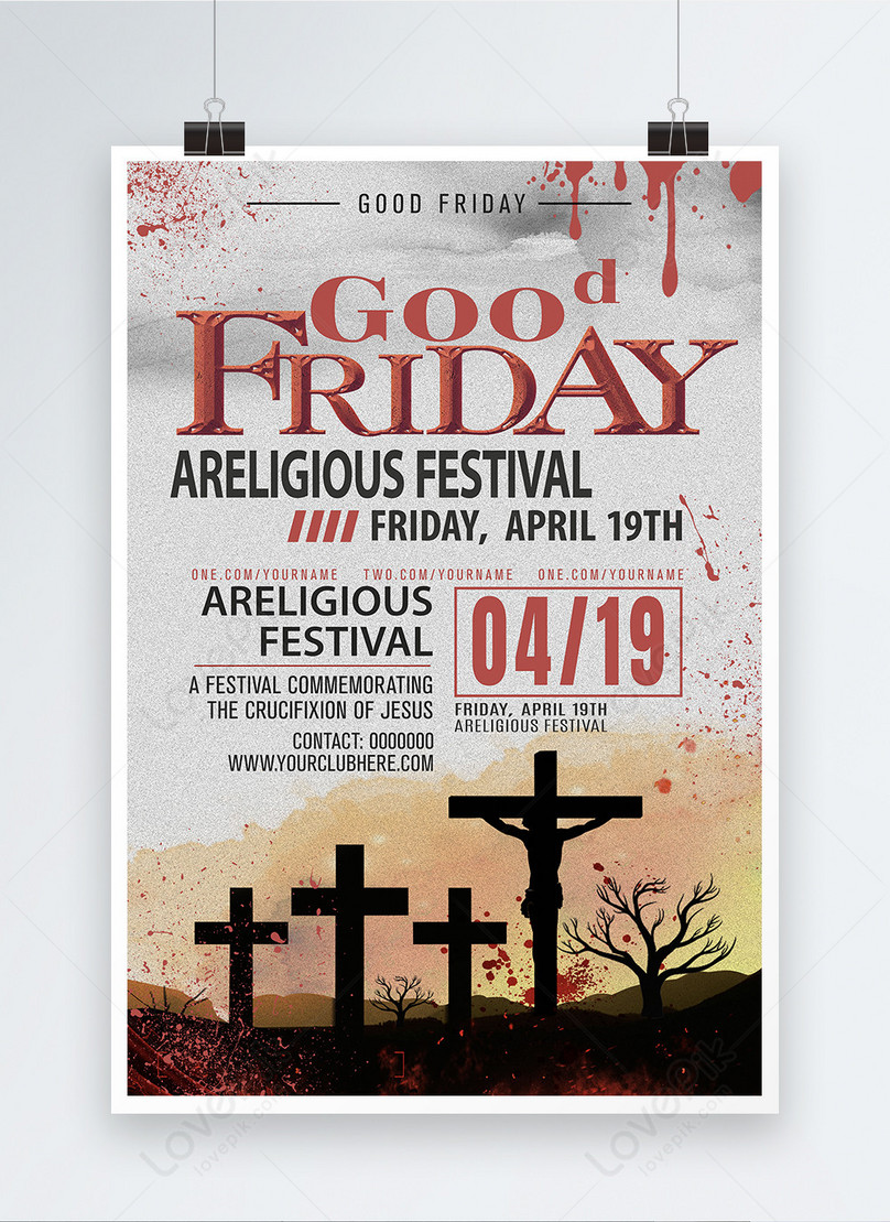 english posters for good friday