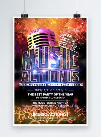 Poster inglês do tema do festival de música Modelos