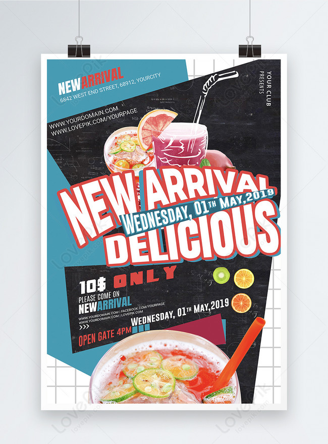 Minuman Poster Promosi Bahasa Inggris Gambar Unduh Gratis Templat 401107256 Format Gambar Psd Lovepik Com