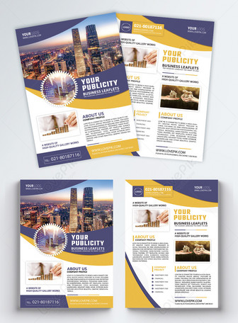 Commercial finance leaflet English Mga template