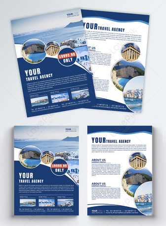 Travel leaflet English Templates
