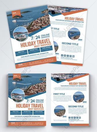 Leaflet perjalanan liburan Bahasa Inggris Templat