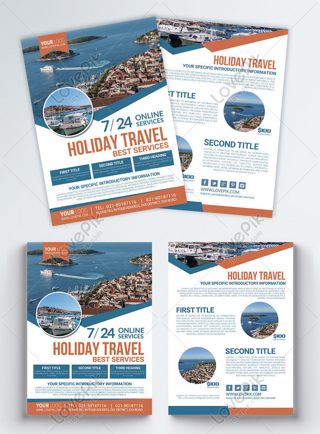 holiday travel leaflet english
