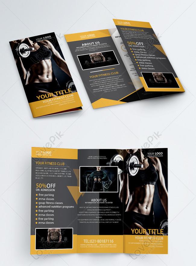 fitness promotion brochure english