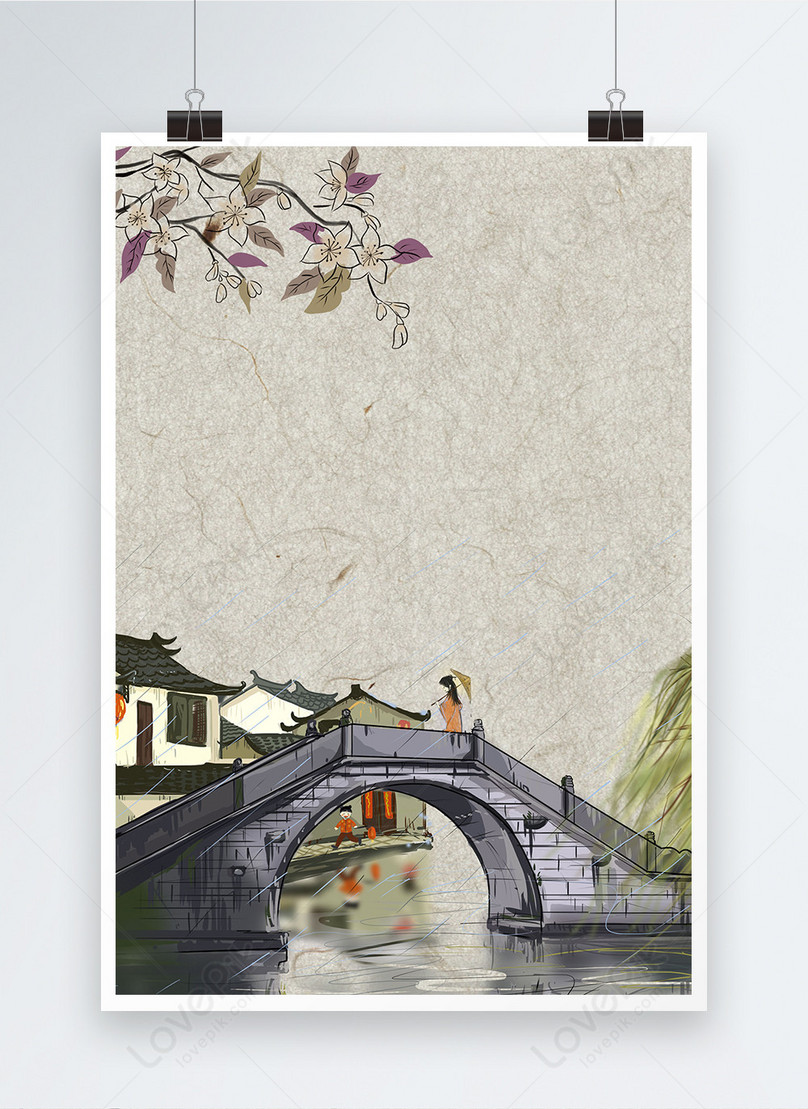 simple chinese style poster background