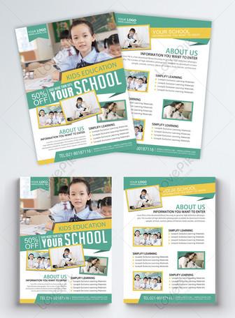 Brochure de formation à l'éducation des enfants anglais Modèles