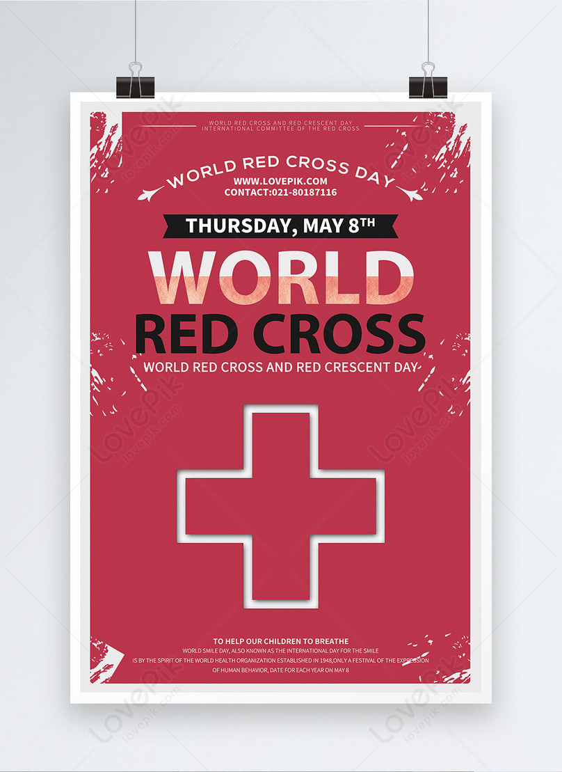 world red cross day poster