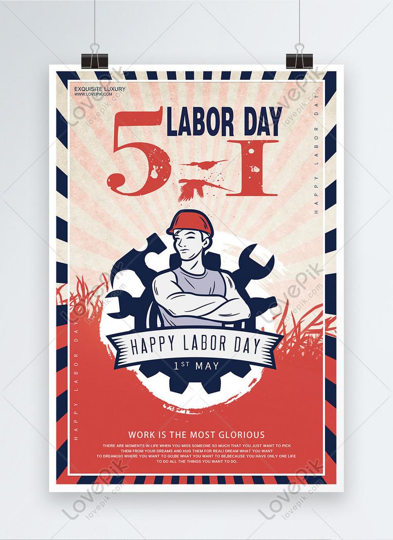 international labor day english edition poster