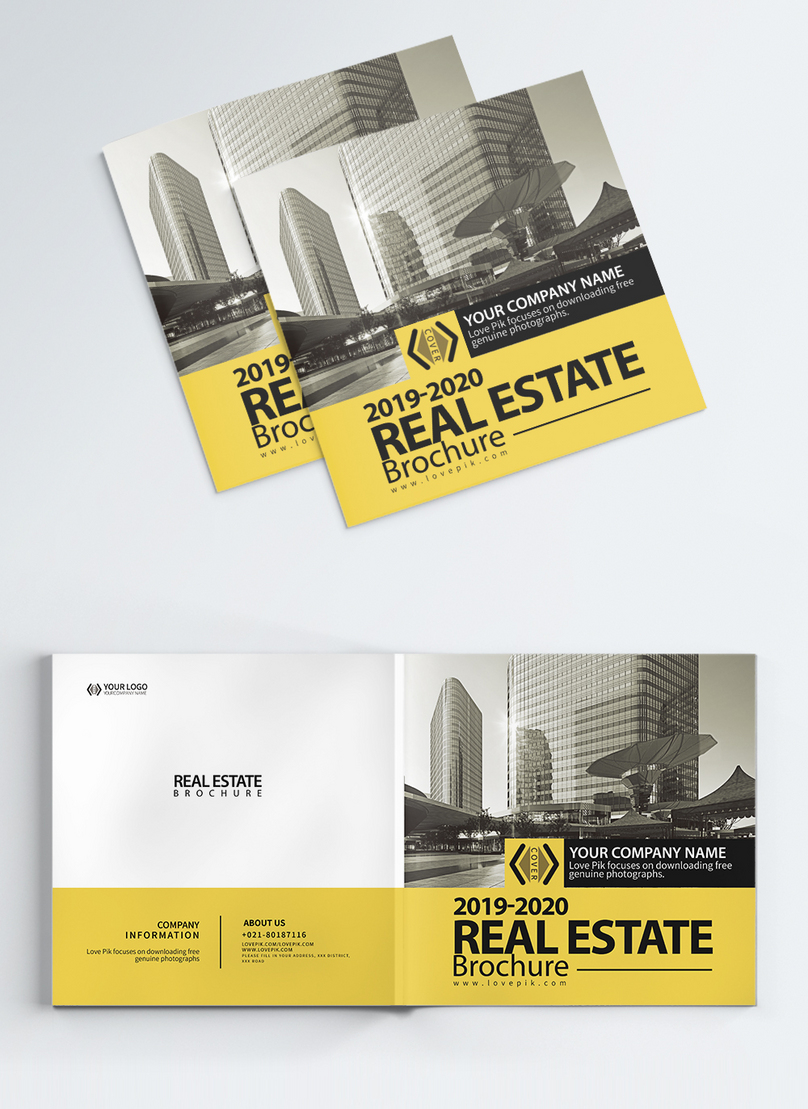 real estate industry brochure album cover