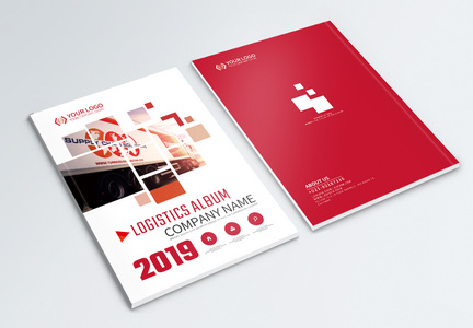 Logistics and transportation brochures cover design template