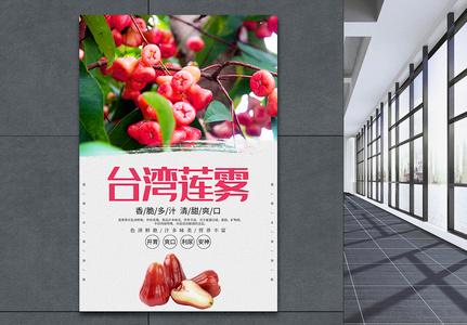 Concise Taiwan Lotus Fog Fruit Poster Templates