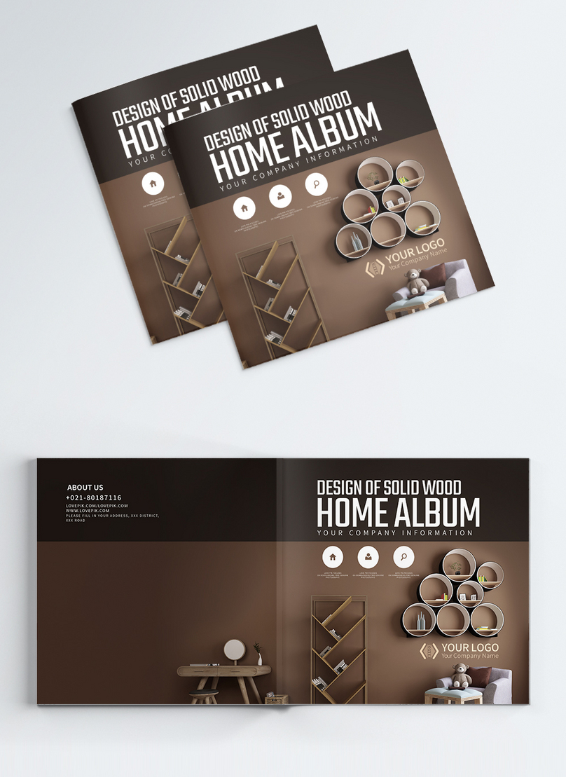 home style brochure cover design