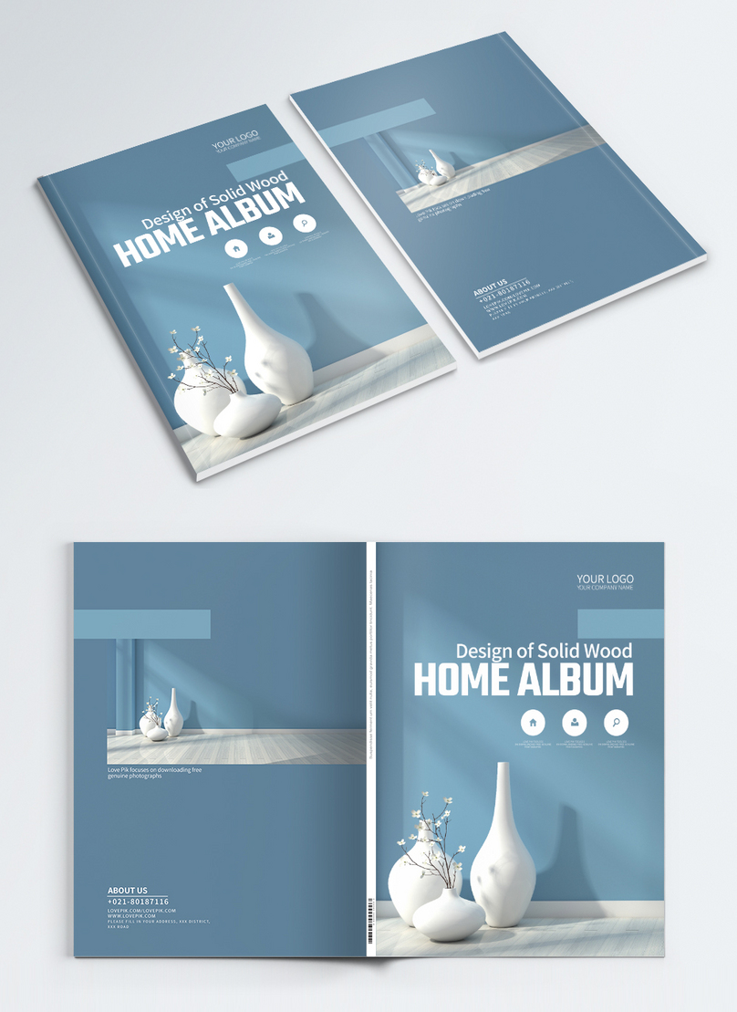 home promotion brochure cover