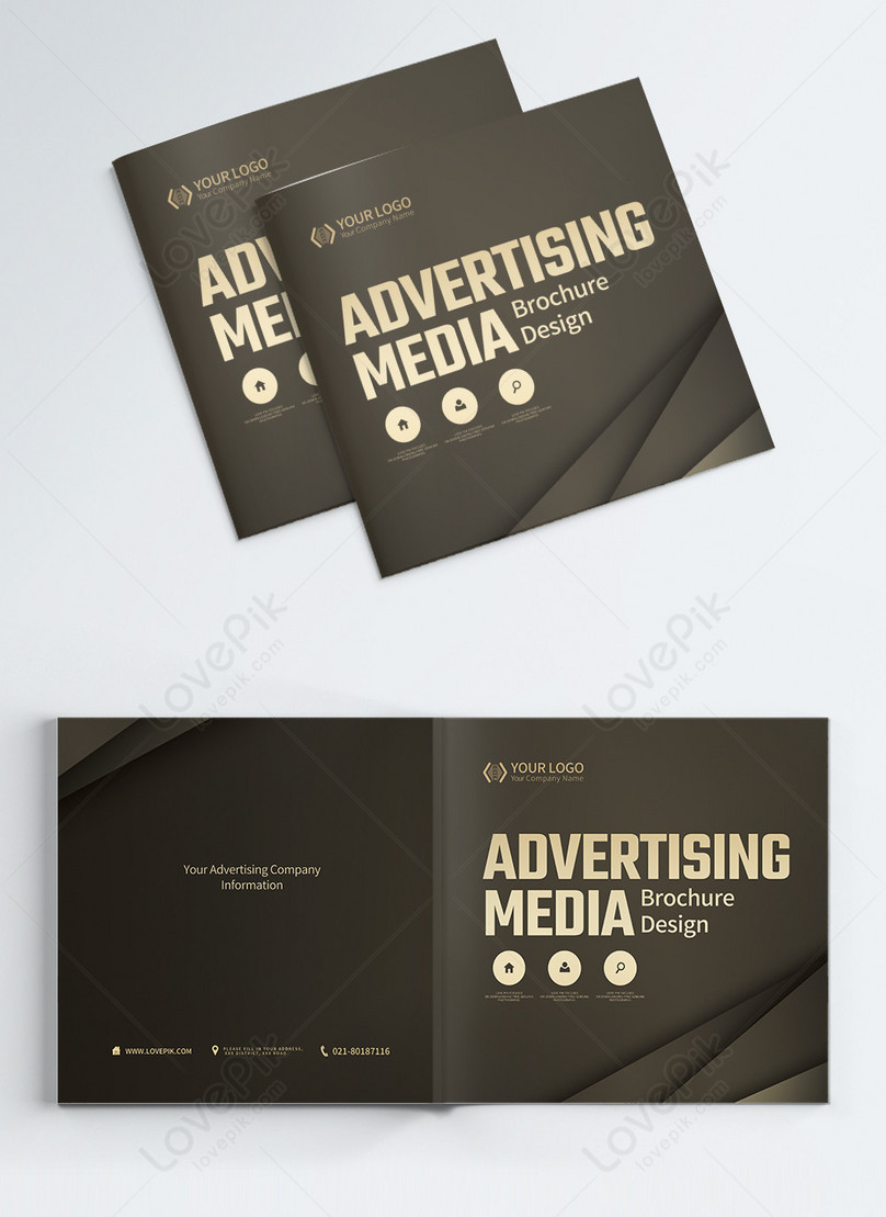 advertising media company business brochure album cover
