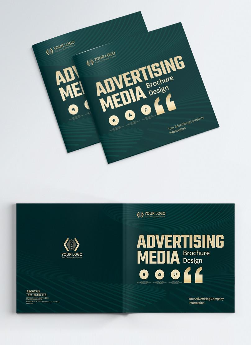 広告メディア会社事業パンフレットアルバムカバー