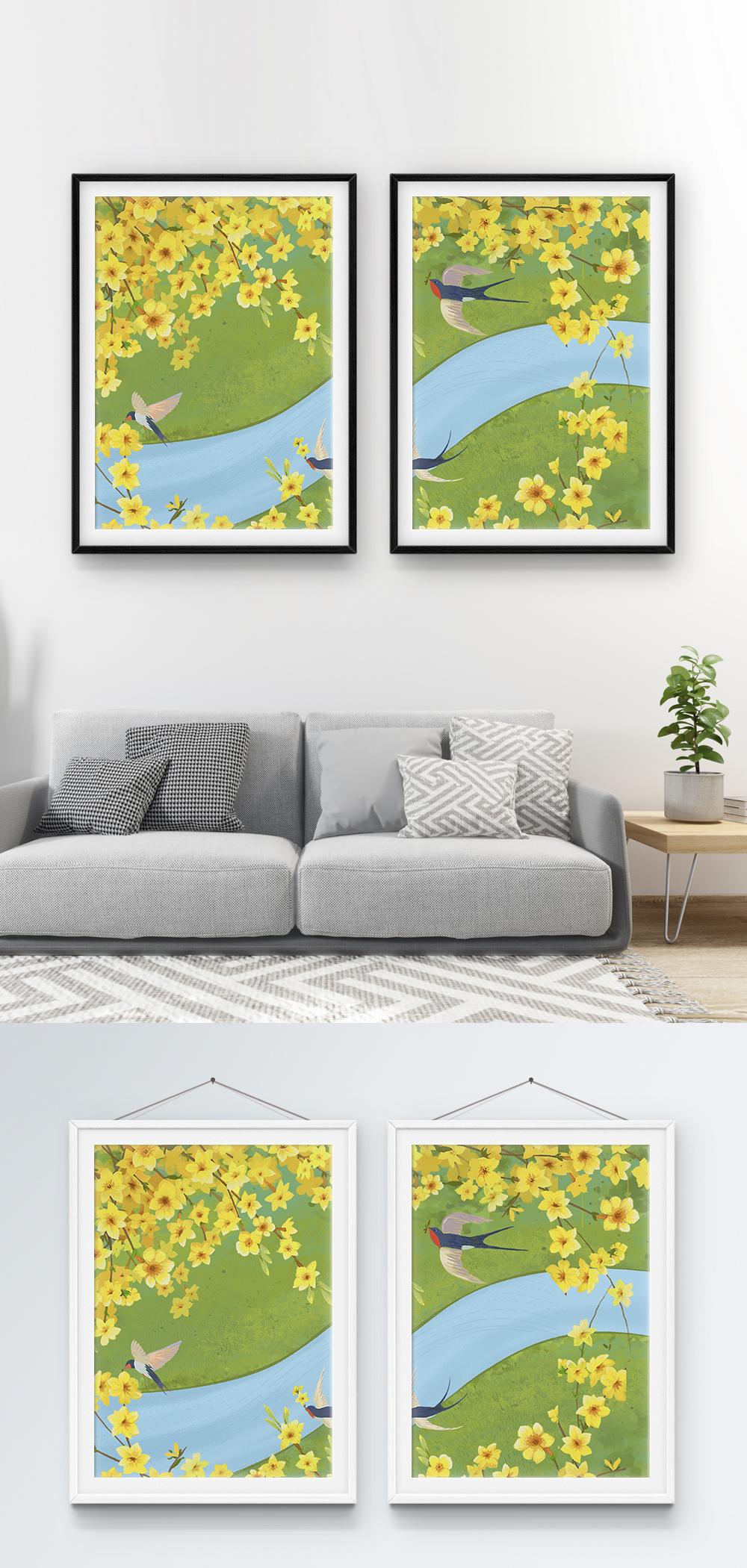 Photo de modèle de peinture dessiné main petite décoration ...