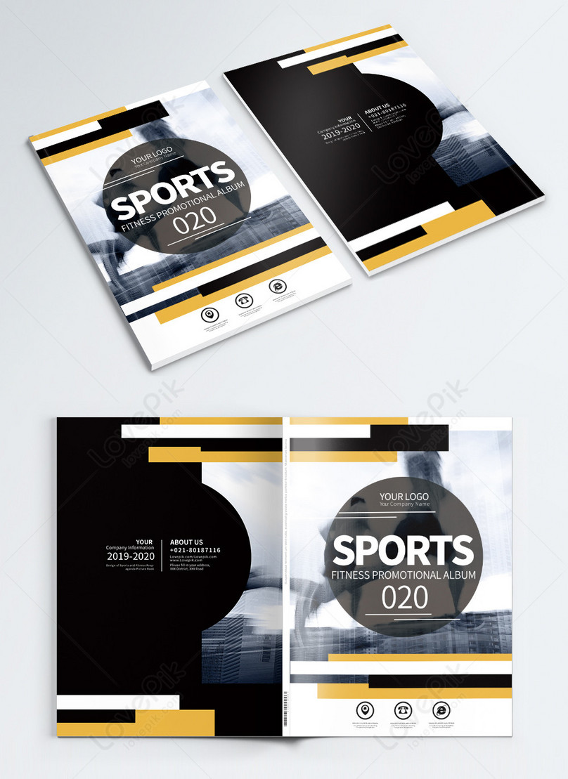 sports and fitness brochures cover