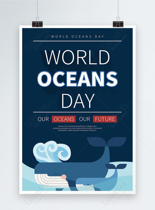 poster promosi biru laut inggris dunia murni