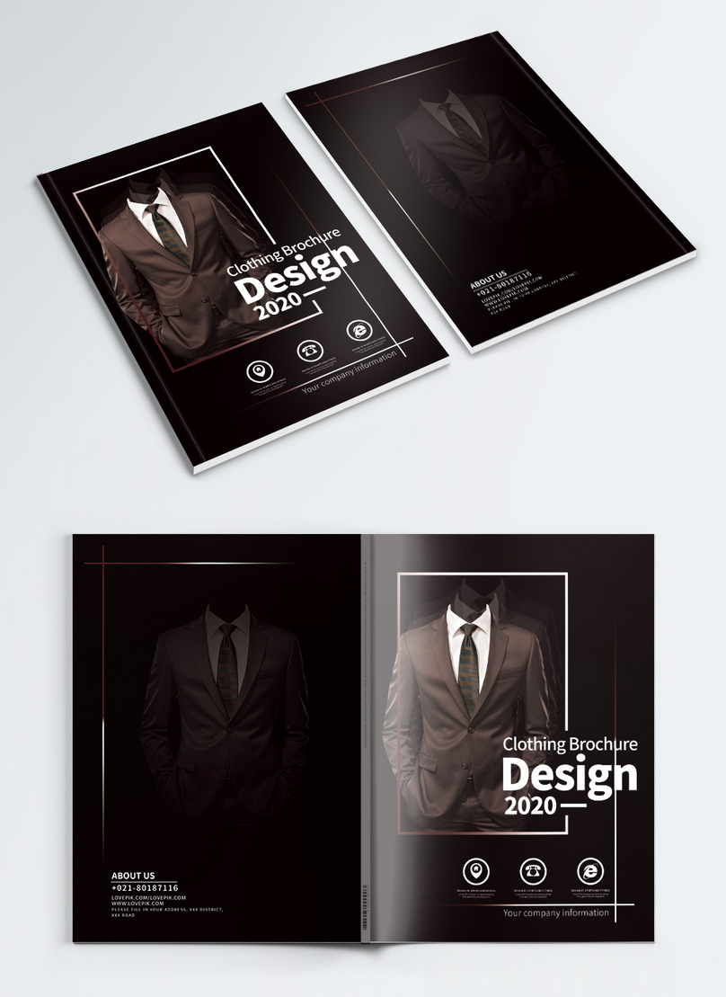 clothing brochures cover