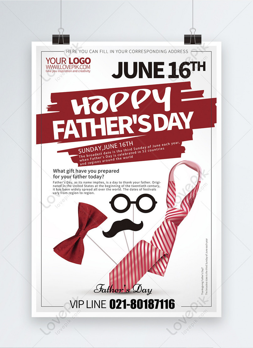 fathers day holiday poster