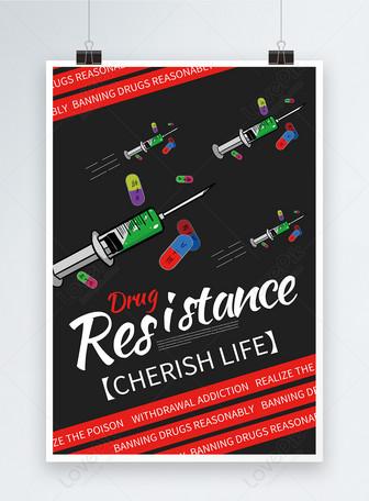 Poster Hari Anti-Narkoba Internasional Inggris Murni Templat