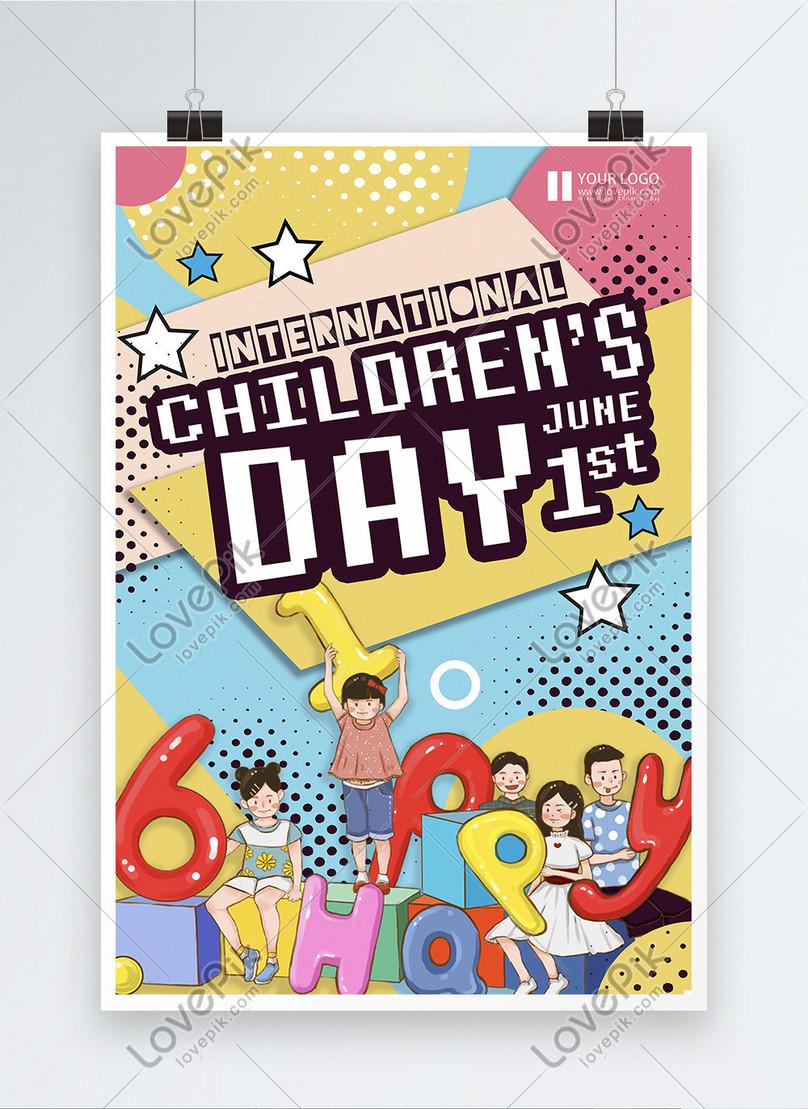 cartaz do festival internacional do dia da criança