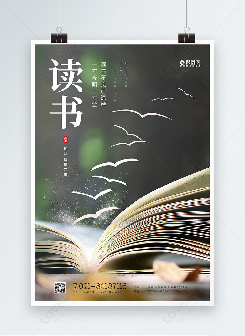 reading a book poster