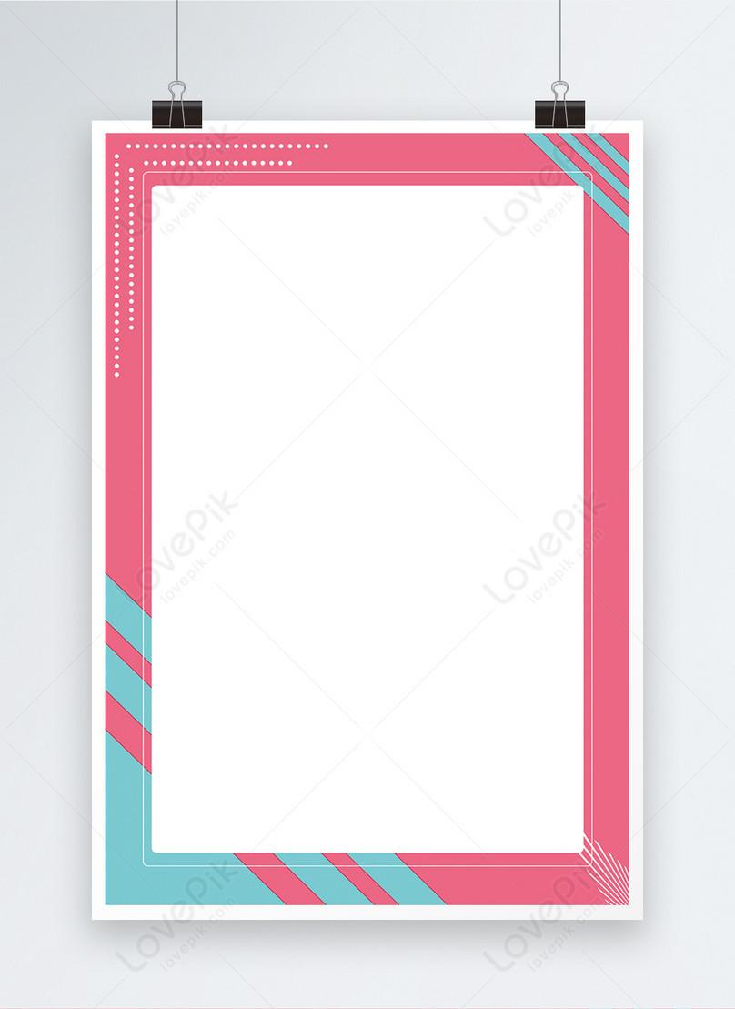 ピンクのボーダーポスターの背景