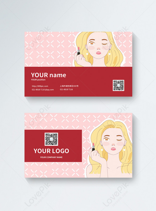 Simple Beauty Salon Business Card Design Template Image Picture Free Download 401421377 Lovepik Com