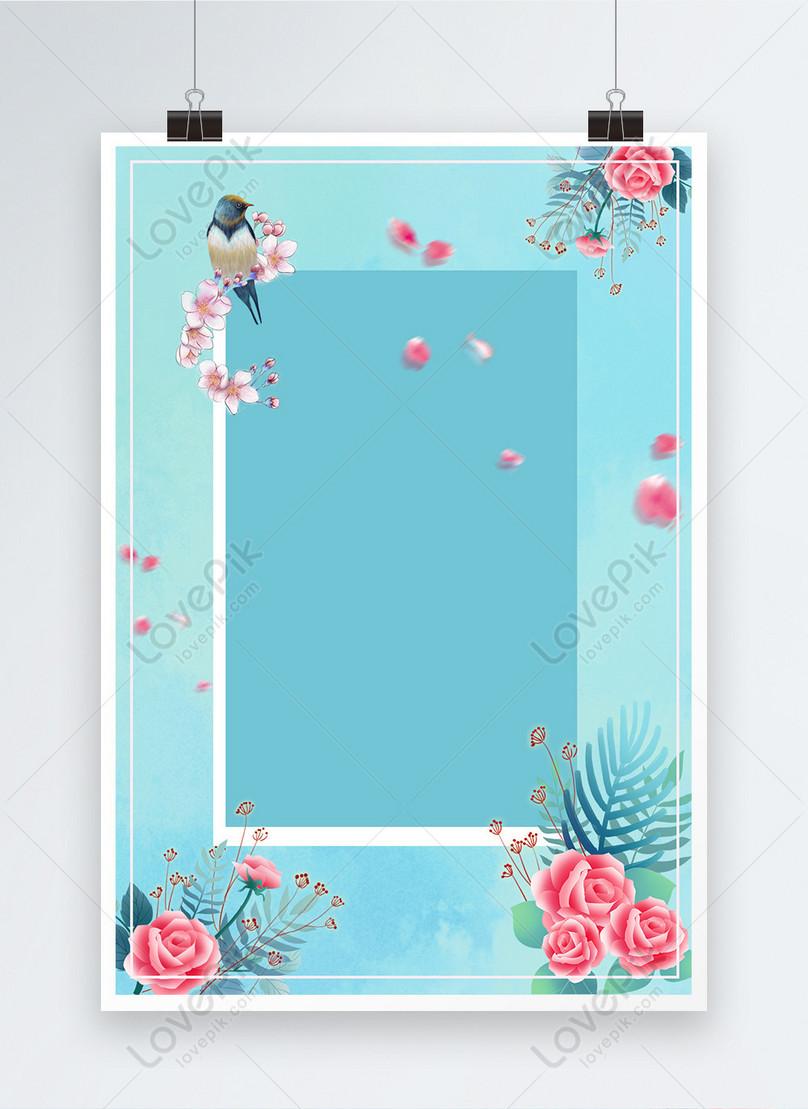 小さな新鮮な美しい花のポスターの背景