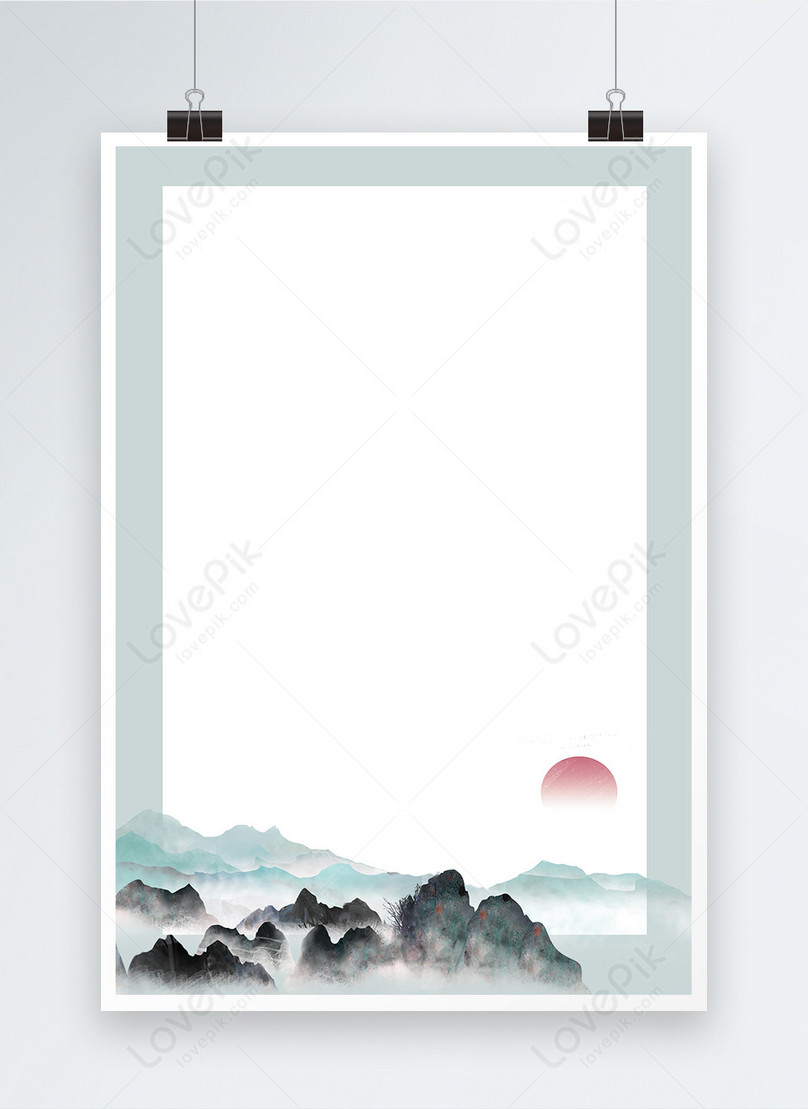 ink and elegant chinese style poster background
