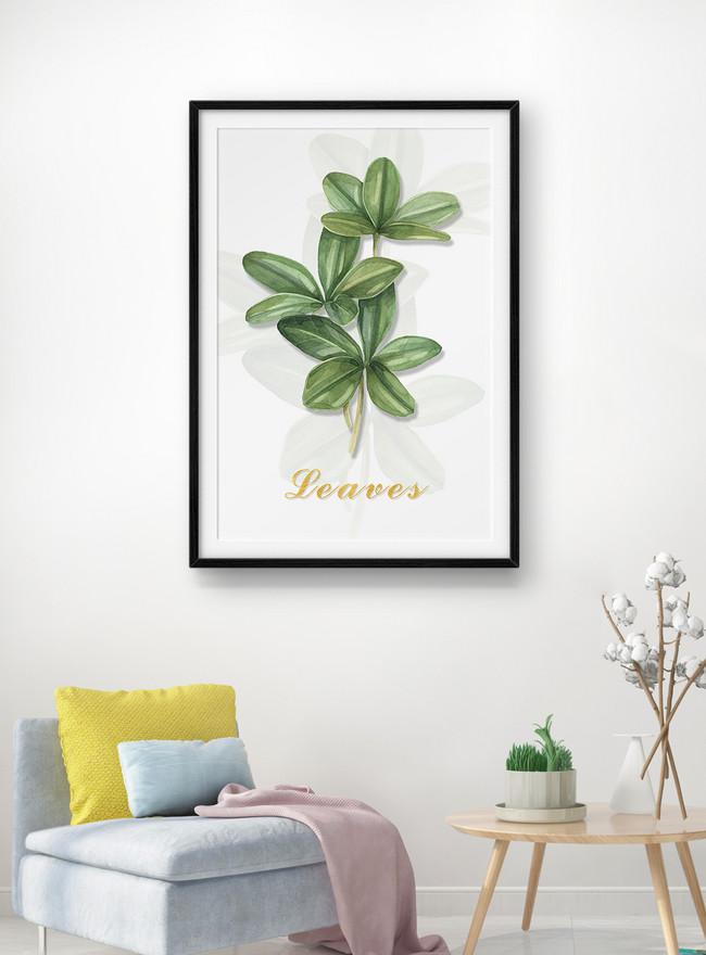 grünpflanzeblatt dekorationsmalerei