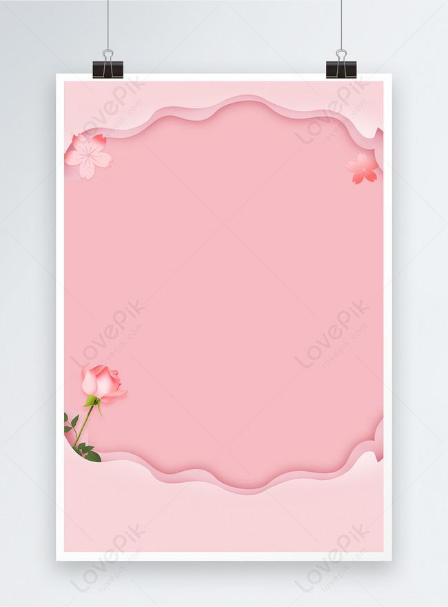 ang pambabae na pink poster na background
