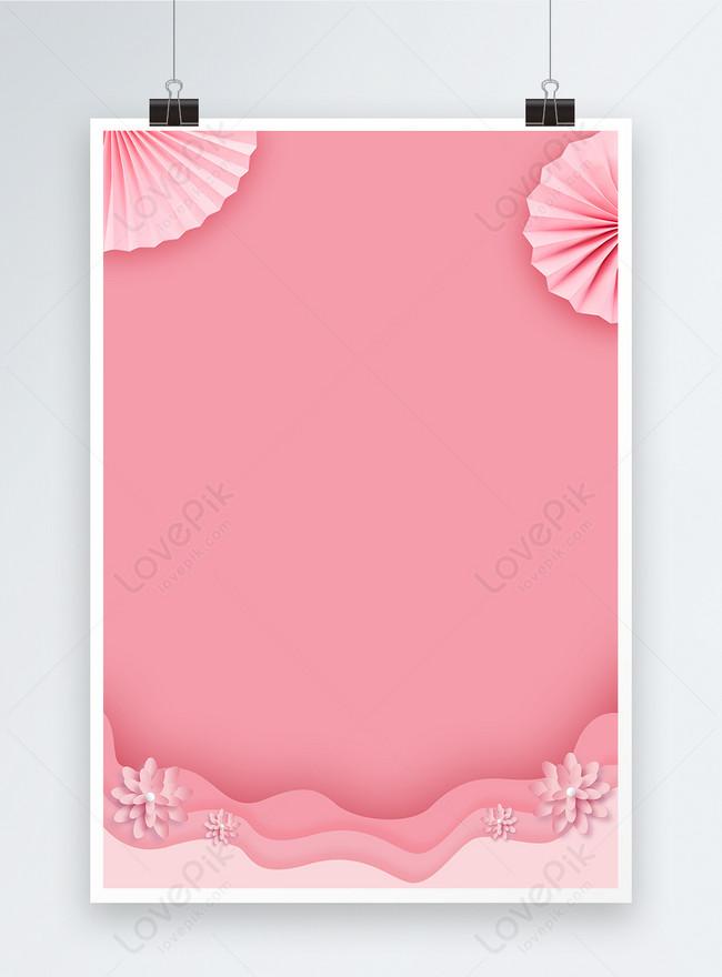 ピンクの美しいポスターの背景