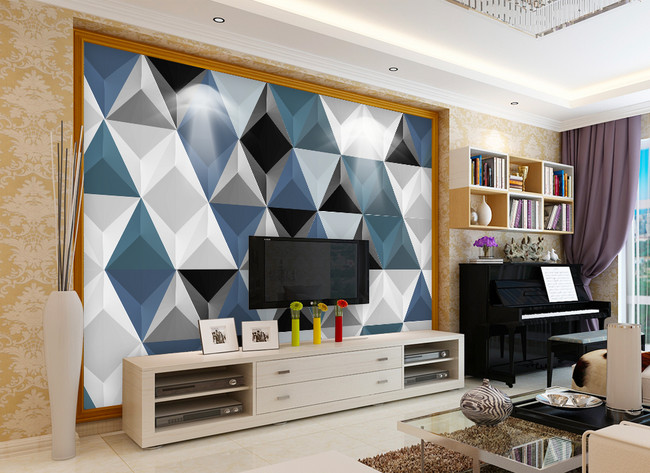 Modern Minimalist Geometric Living Room Tv Background Wall Template Image Picture Free Download 401577173 Lovepik Com