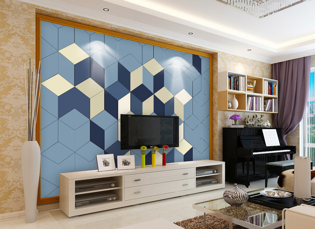 Geometric Color Block Living Room Tv Background Wall Template Image Picture Free Download 401578163 Lovepik Com