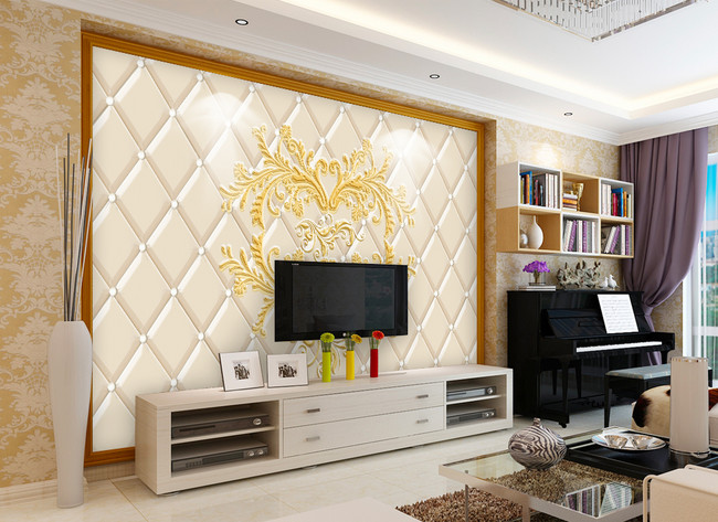 Luxury Embossed Living Room Tv Background Wall Template Image Picture Free Download 401584083 Lovepik Com