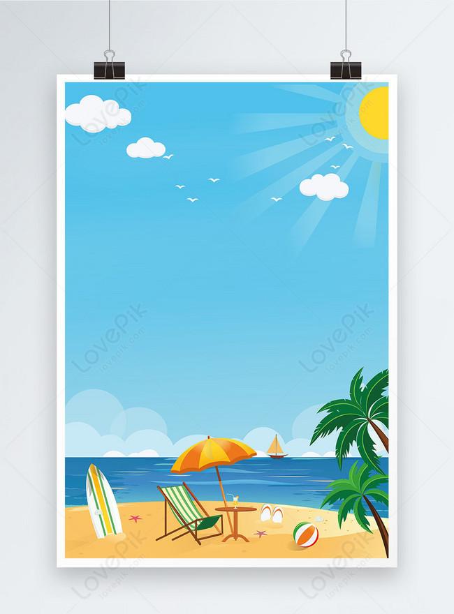 summer seaside travel poster background