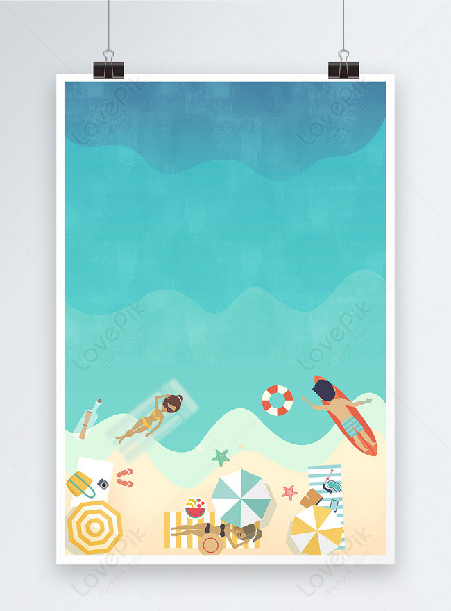 summer swimming poster background