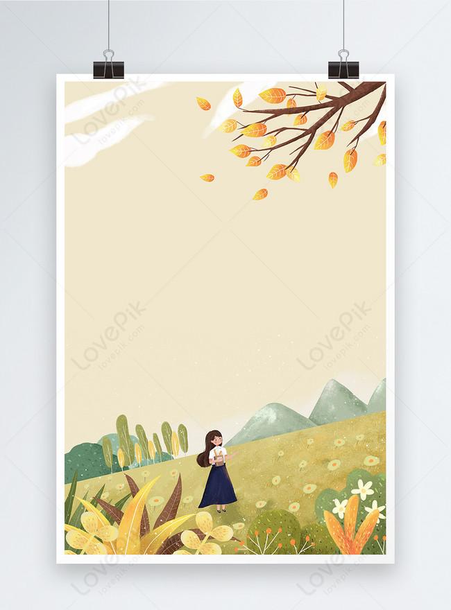 秋のポスターの背景