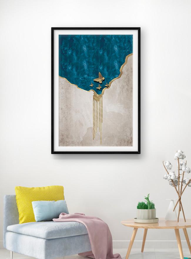 Abstract Art Living Room Decorative, Modern Art Living Room