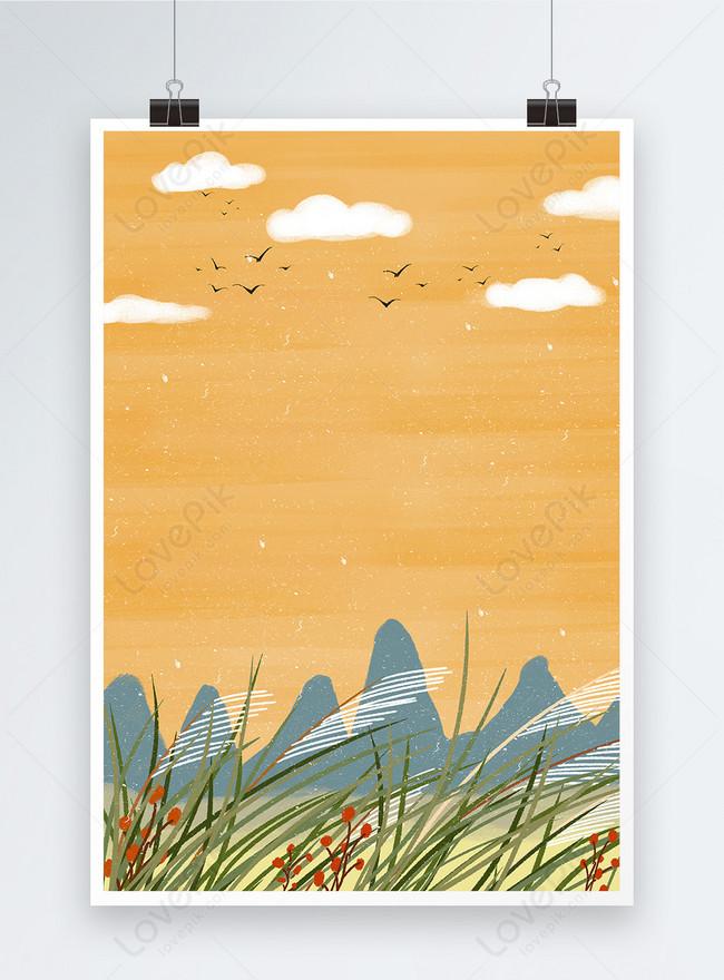 autumn seasons poster background