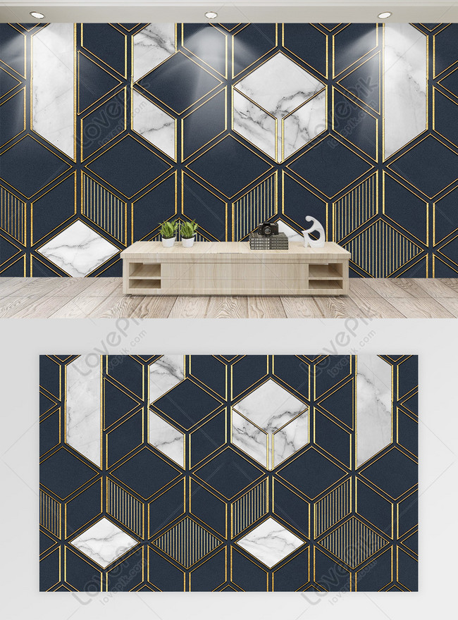 muro de mármol geométrico minimalista moderno